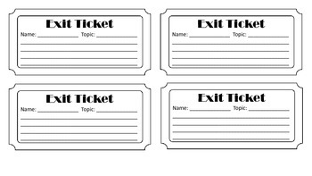Twitter Feed Template and Exit Ticket Template