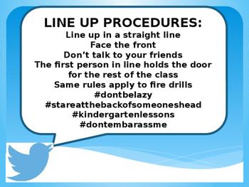 Twitter-First Day of School Procedures