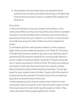 Twitter Literature Circles