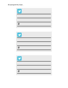 Twitter Post Template - 3 Tweets