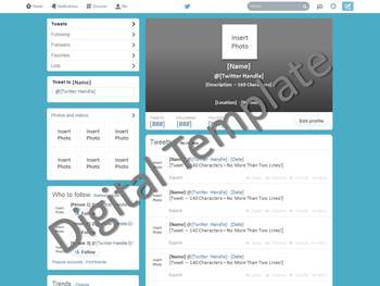 twitter template social media lite version by ali briggs tpt