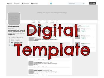 Twitter Profile Templates in Google Drawings | Google Ready Resource