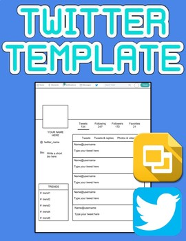 graphic about Printable Twitter Template called Twitter Template (Editable upon Google Slides)