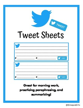 image about Printable Twitter Template named Twitter Template Worksheets Instruction Materials TpT