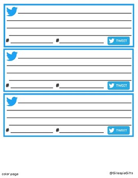 graphic about Printable Twitter Template identified as Twitter Template \