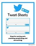"""Twitter Template """"Tweet Sheets"""""""