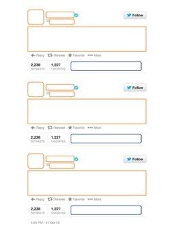 Twitter Template, Twitter Feed