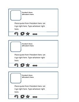 twitter template for classroom by 3rd grade delights tpt
