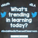 Editable Twitter Trending Social Media Technology Theme Hashtags Bulletin Board