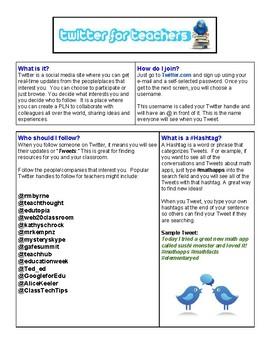 Twitter for Teachers