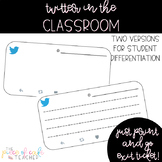 Twitter in the Classroom Exit Ticket