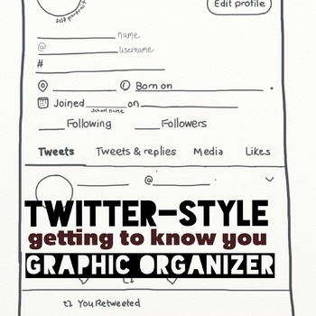 Twitter style getting to know you graphic organier