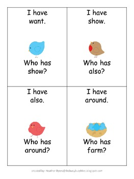 Twittering I have...Who has...? sight word game {Fry's 2nd 100 words}