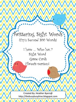 Twittering I have...Who has...? sight word game {Fry's 2nd
