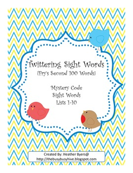 Twittering Mystery Code Words {Fry's 2nd 100 words}