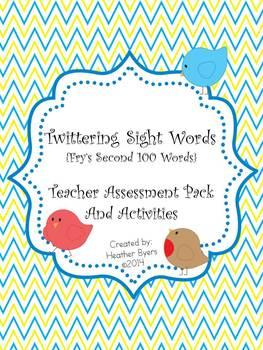 Twittering Sight Words {Fry's Second 100 Words} Teacher Assessment Pack