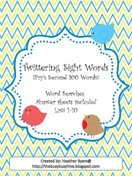 Twittering Word Searches {Fry's 2nd 100 words}