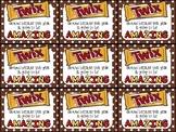 Twix Beginning of Year Gift Tag-Twix around, this year is going to be amazing