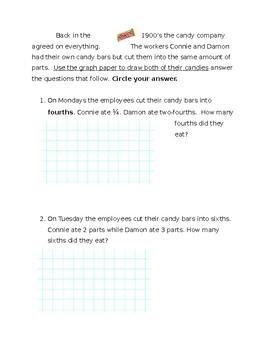 Twix Candy - Adding fraction