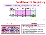 Two Way Frequency Tables Summary