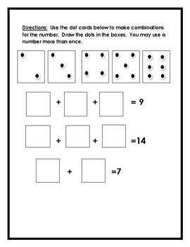 Two Addend Combinations: Practice Page