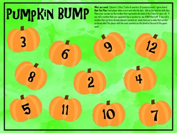 Two Addition BUMP Games: Turkeys and Pumpkins