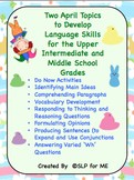 Two April Topics to Develop Language Skills for Intermediate & Middle School