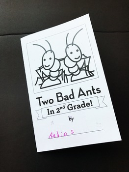 Two Bad Ants • Back to School Book Companion Activity • 1st Day of School
