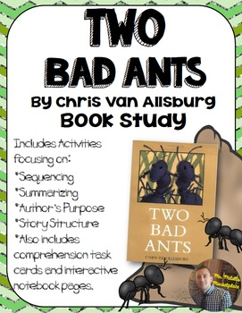 Two Bad Ants Book Study: Organizers and Interactive Notebook Pages