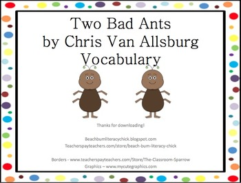 Two Bad Ants - Bundle Pack!!