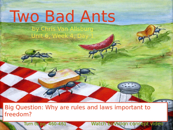 Two Bad Ants PowerPoint Reading Street 3.6.4