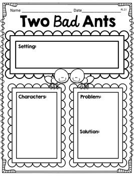 Two Bad Ants Reader Response CCSS Aligned, Chris Van Allsburg