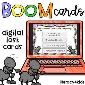 Two Bad Ants Reading Comprehension Boom Cards (digital task cards)