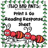 Two Bad Ants Reading Response