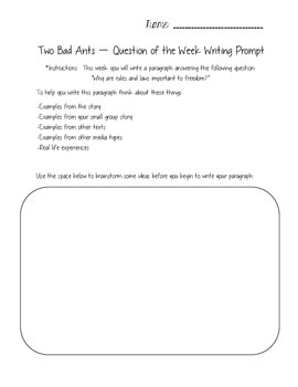 Two Bad Ants - Reading Street 3.6.4 Packet