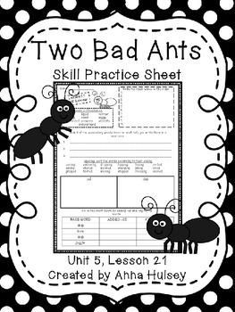 Two Bad Ants (Skill Practice Sheet)