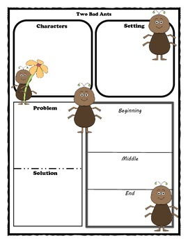 Two Bad Ants Story Map Graphic Organizer