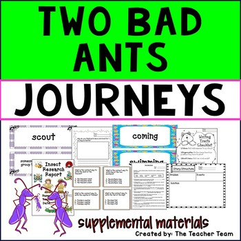 Two Bad Ants Journeys Third Grade Unit 5 Lesson 21 Activities & Printables