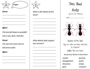 Two Bad Ants Trifold - Reading Street 3rd Grade Unit 6 Week 4