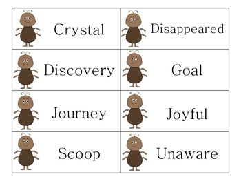 Two Bad Ants - Vocabulary Activities