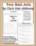 Two Bad Ants by Chris Van Allsburg- Inference Worksheet