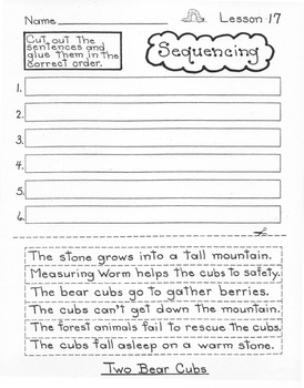 Two Bear Cubs  3rd Grade Harcourt Storytown Lesson 17