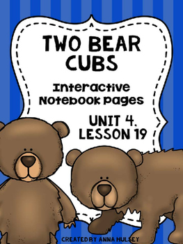 Two Bear Cubs (Interactive Notebook Pages)