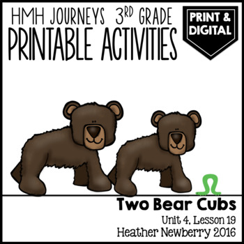 Two Bear Cubs: Journeys 3rd Grade (Unit 4, Lesson 19)
