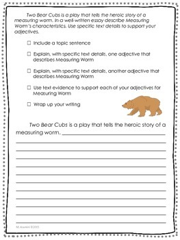 Two Bear Cubs--Journeys Grade 3-Lesson 19