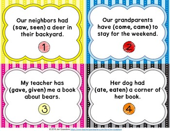 Two Bear Cubs (Journeys L.19, 3rd Grade) IRREGULAR VERBS Task Cards