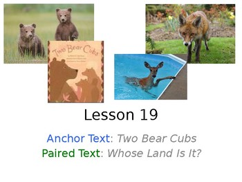Two Bear Cubs PowerPoint Weekly Activities for Journeys Grade 3