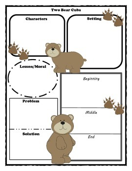 Two Bear Cubs Story Map Graphic Organizer
