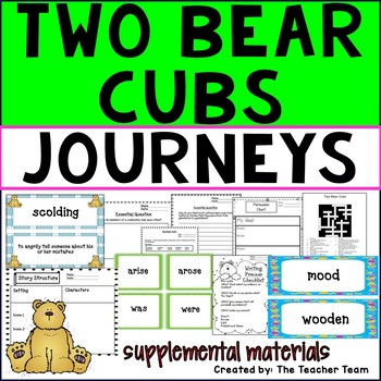 Two Bear Cubs Comprehension Worksheets Teaching Resources