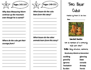 Two Bear Cubs Trifold - Journeys 3rd Grade Unit 4 Week 4 (